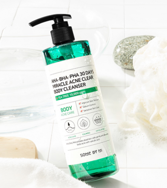 Sabonete Corporal AHA BHA PHA 30 Days Miracle Acne Clear Body Cleanser - Some By Mi