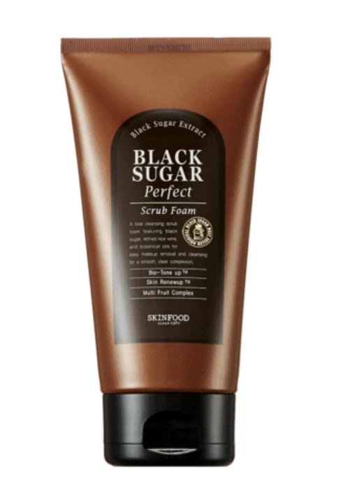 Sabonete Facial Black Sugar Perfect Scrub Foam - Skinfood