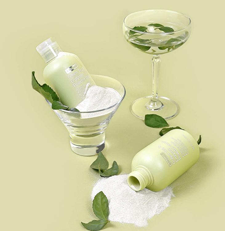 Sabonete Facial Green Tea & Enzyme Powder Wash - By Wishtrend