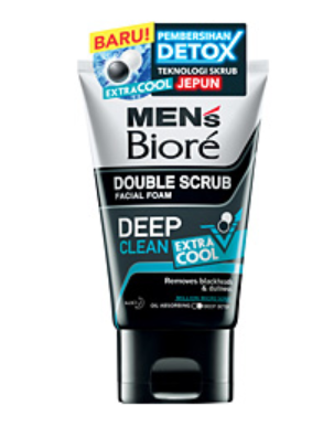 Sabonete Facial Masculino Double Scrub Facial Foam Deep Clean Extra Cool - Biore