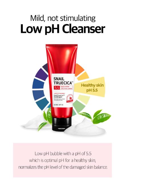 Sabonete  Facial Snail Truecica Miracle Repair Low pH Gel - Some By Mi