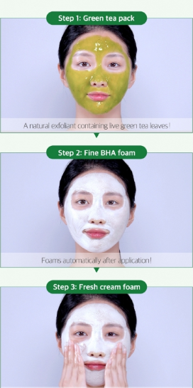 Tratamento Bye Bye Blackhead 30 Days Miracle Green Tea Tox Bubble Cleanser - Some By Mi