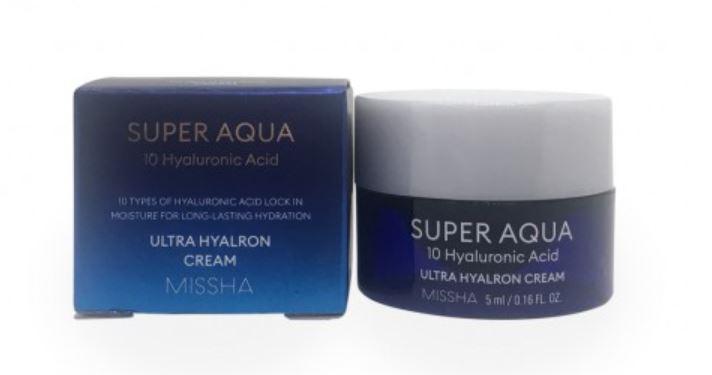 Travel Size  Super Aqua Ultra Hyalron Cream Sample - Missha
