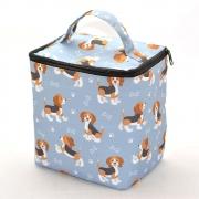 Lancheira Térmica com Zíper Pets Beagle Azul 3 Lts