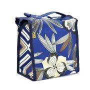 Necessaire Organizadora Cosmético e Maquiagem Floral Azul