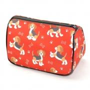 Necessaire Trapézio Pets Beagle Vermelho G