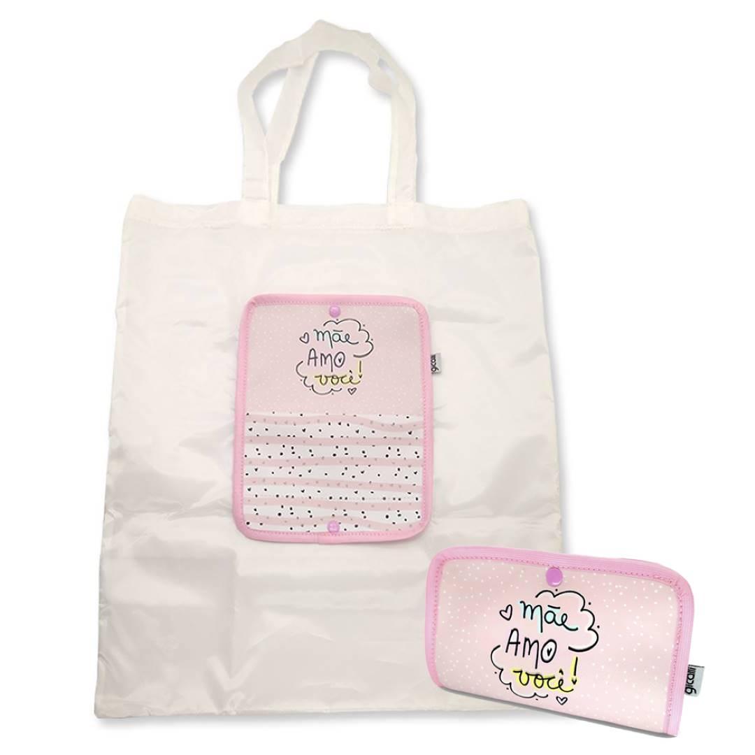 Bolsa Ecobag Mãe Amo Você Dobrável