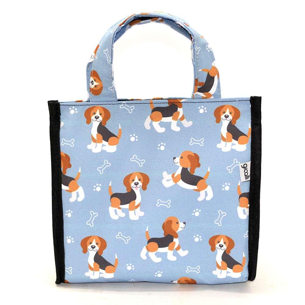 Lancheira Térmica com Velcro Pets Beagle Cinza