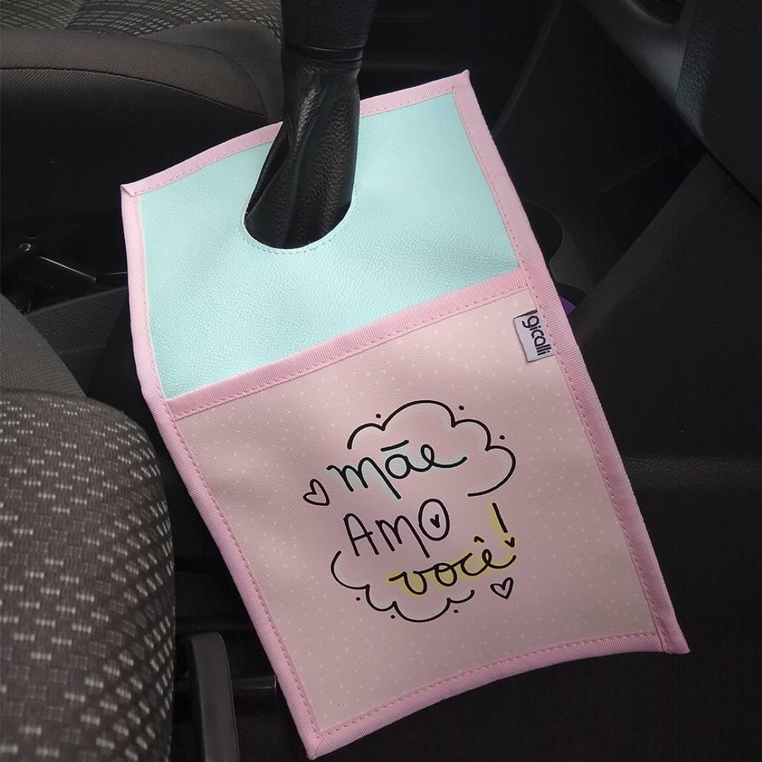 Lixeira Para Carro Dia das Mães Mãe Amo Você