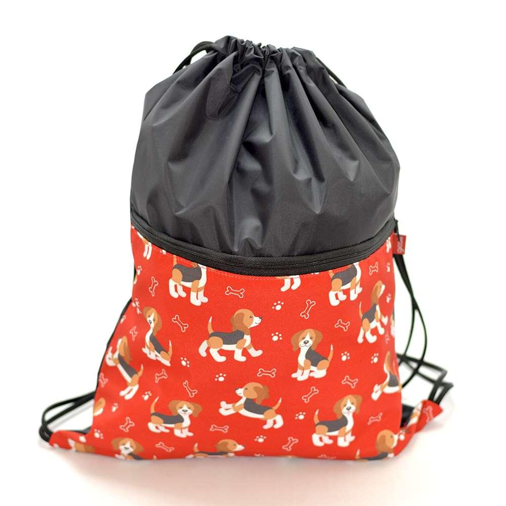 Sacochila Pets Beagles Vermelho