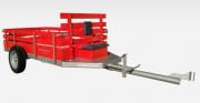 Carreta p microtrator  Simples  Fixa sem pneus