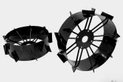 Conjunto de Rodas de Ferro p Microtrator