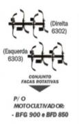 Conjunto Enxadas Buffalo (Lado Direito e esquerdo) P/ Motocultivadores cód 6302 - 6303