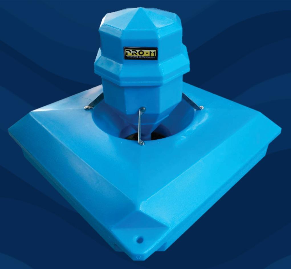Aerador para oxigenação 1/4 cv motor weg  300m2 monofásico 110 ou 220V