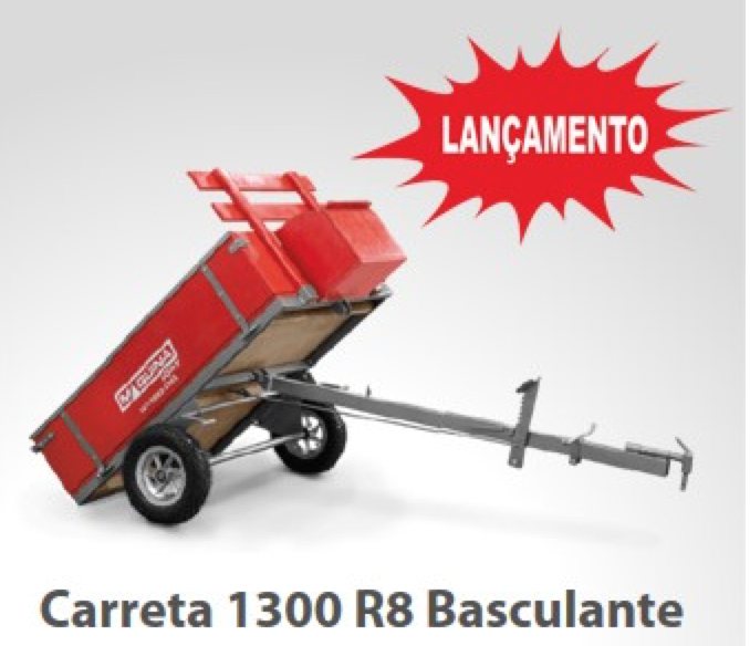 Carreta Basculante para Motocultivadores 1300 R8