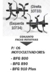 Conjunto Capinadeira Buffalo (Lado Direito e esquerdo) P/ Motocultivadores cód 10733 - 10734