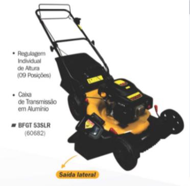 Cortador de Grama Buffalo BFGT 53SLR C/ Recolhedor / Saida Lateral / Tração 60682 (a Gasolina)
