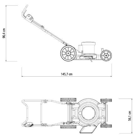Cortador de Grama Tramontina CE45M C/ Saida Lateral 2500W / 127V 79683250 (Elétrico)