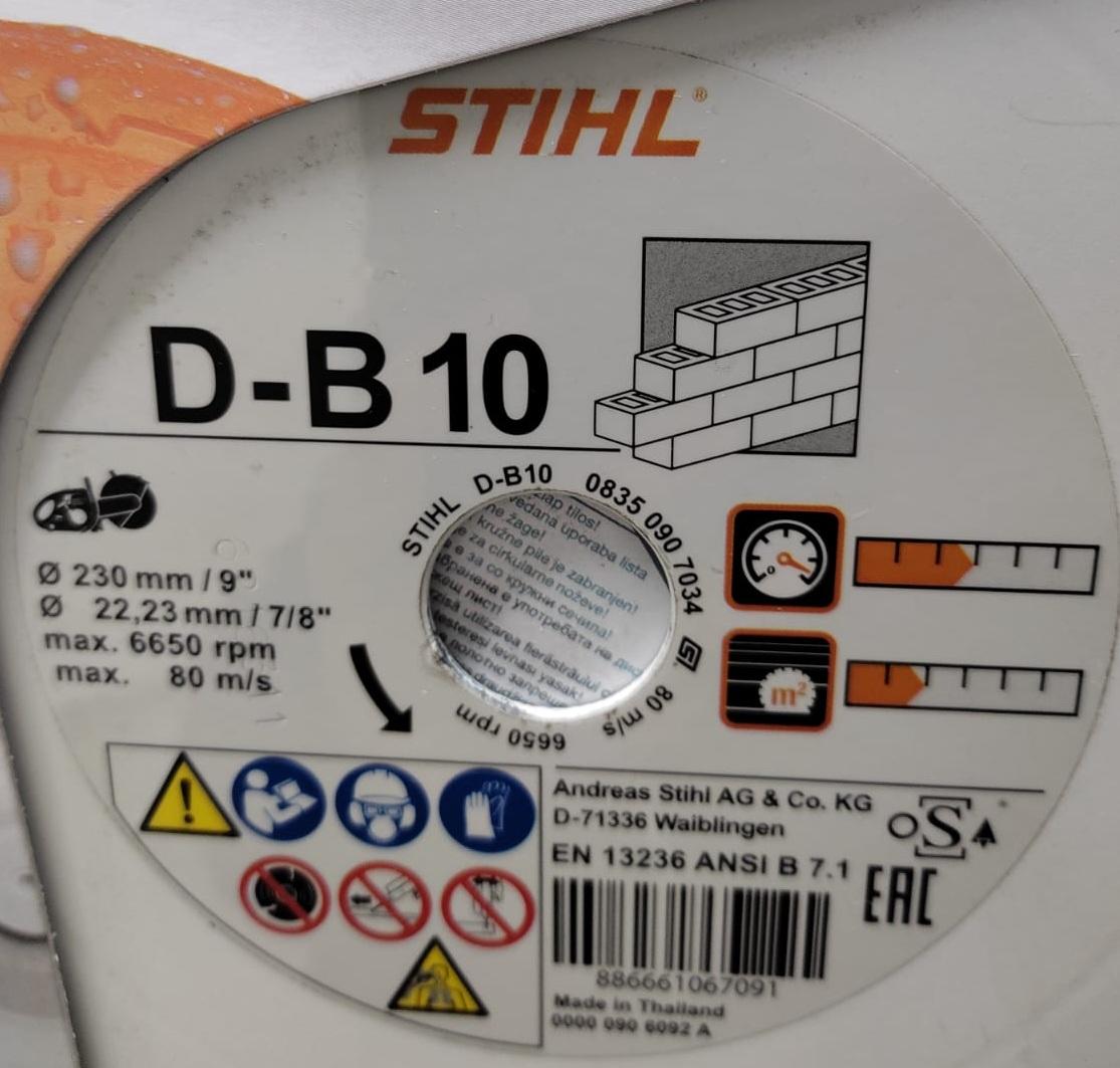 Disco de corte Stihl D-B 10 230mm /9 0835-090-7034