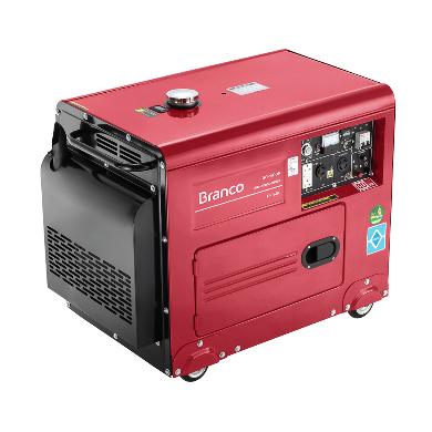 Gerador Branco BD 6500 ES Silencioso Monofásico Part. Elétrica 90304453 (a Diesel)