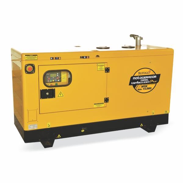 Gerador Buffalo BFDE 15000 Silencioso Trifásico 230v Com Ats / Bateria Part Elétrica 72234 (a Diesel, Refrigerado a Água)
