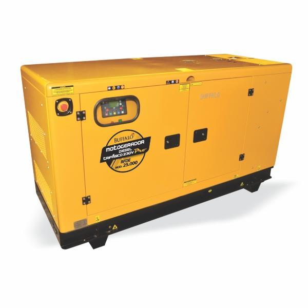 Gerador Buffalo BFDE 25000 Silencioso Trifásico 230v Com Ats / Bateria Part Elétrica 73434 (a Diesel, Refrigerado a Água)