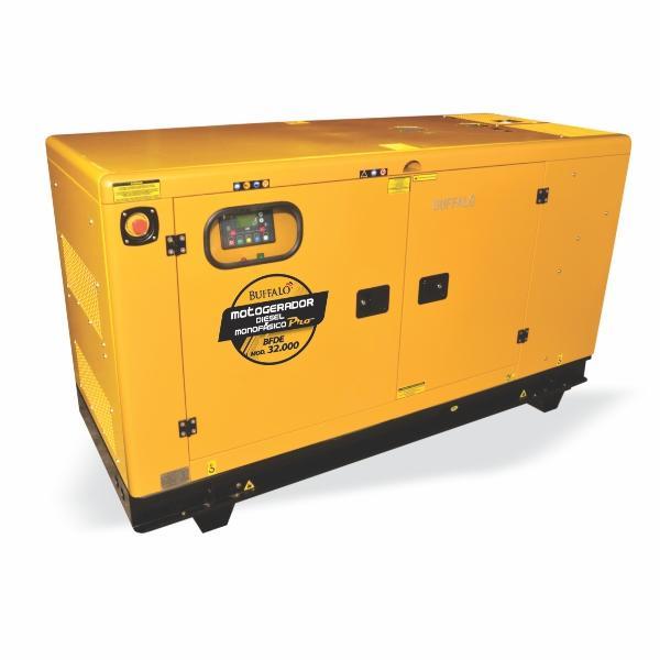 Gerador Buffalo BFDE 32000 Silencioso Monofásico Com Ats / Bateria Part Elétrica 75439 (a Diesel, Refrigerado a Água)