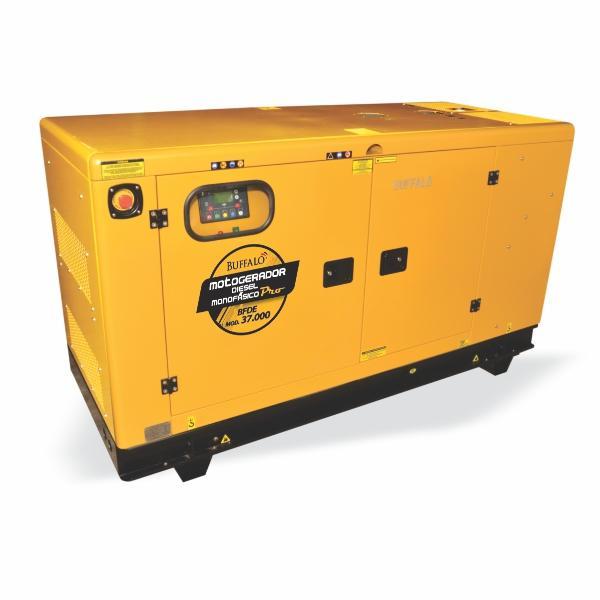 gerador Buffalo BFDE 37000 Silencioso Monofásico Com Ats / Bateria Part Elétrica 76539 (a Diesel, Refrigerado a Água)