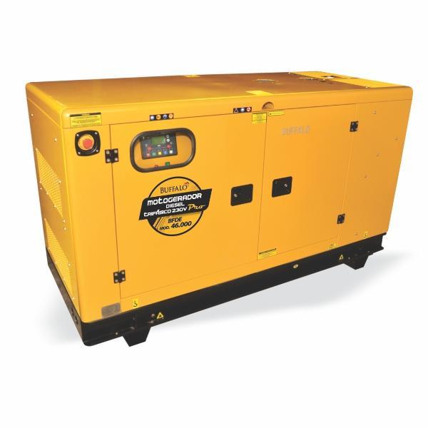 Gerador Buffalo BFDE 46000 Silencioso Trifásico 230v Com Ats / Bateria Part Elétrica 76540 (a Diesel, Refrigerado a Água)
