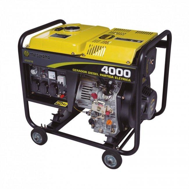 Gerador Diesel 4000 -  110V/220V Monofásico P.M.