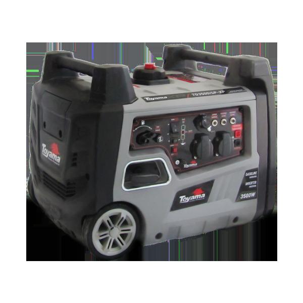 Gerador Dig. Inverter Silenc. Gas. Toyama TG3500iSXP 3,5KW 110V Mono,rodas e saí