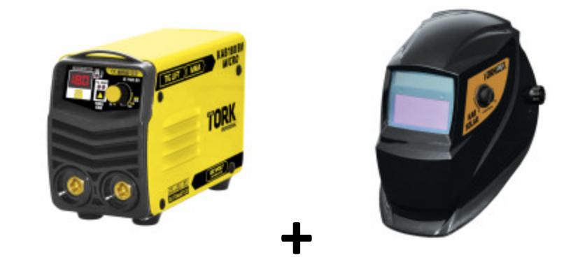 Inversor de Solda Tork 180 amp  (bivolt) + máscara Kab Solar