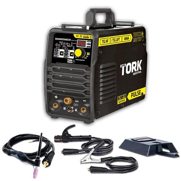 Inversora de Solda SuperTork Tig Hf/ Tig Lift + Mma Vrd - Touch 250 Hf - Inversor 250 Amperes