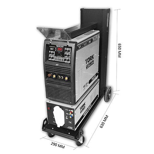 Inversora de Solda  TIG HF + TIG LIFT + MMA - TOUCH 350-AC/DC - INVERSOR 350 AMPERES - COOLER + CARRINHO