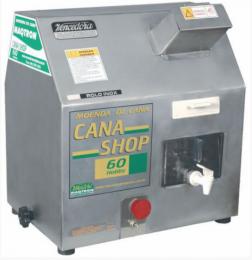 Moenda CANA SHOP 60 - 3 rolos e eixos de INOX c/ chave de reversão, motor 1/2CV