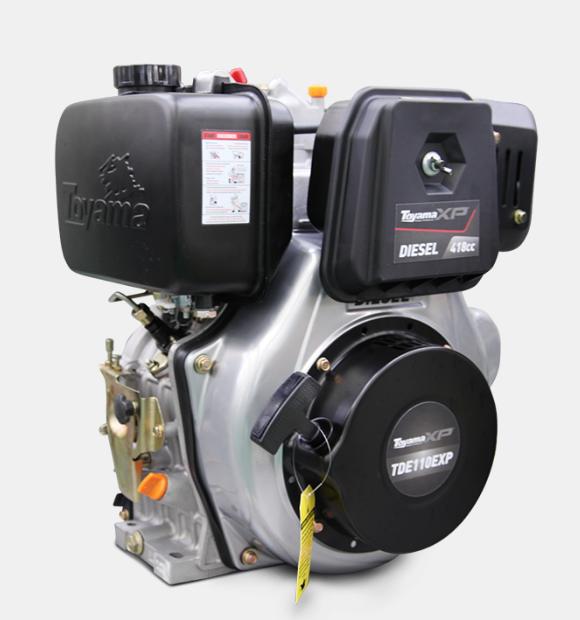 Motor a Diesel Toyama - 4 tempos - 10.5 HP Partida Elétrica