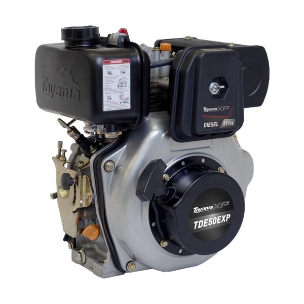 Motor a Diesel Toyama - TDE50EXP - 5HP Monocilindrico - Partida Elétrica