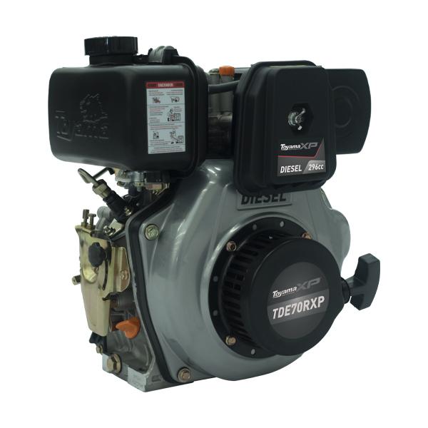 Motor a Diesel Toyama - TDE70R-XP - 7.0HP 4 tempos  (Com redução)