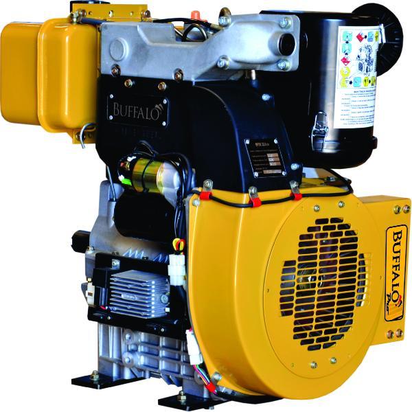 Motor Buffalo BFDE 22.0 cv PRO c/ 2 Cilindros Eixo P/ bomba Incendio Part. Elétrica 72101 (a Diesel)