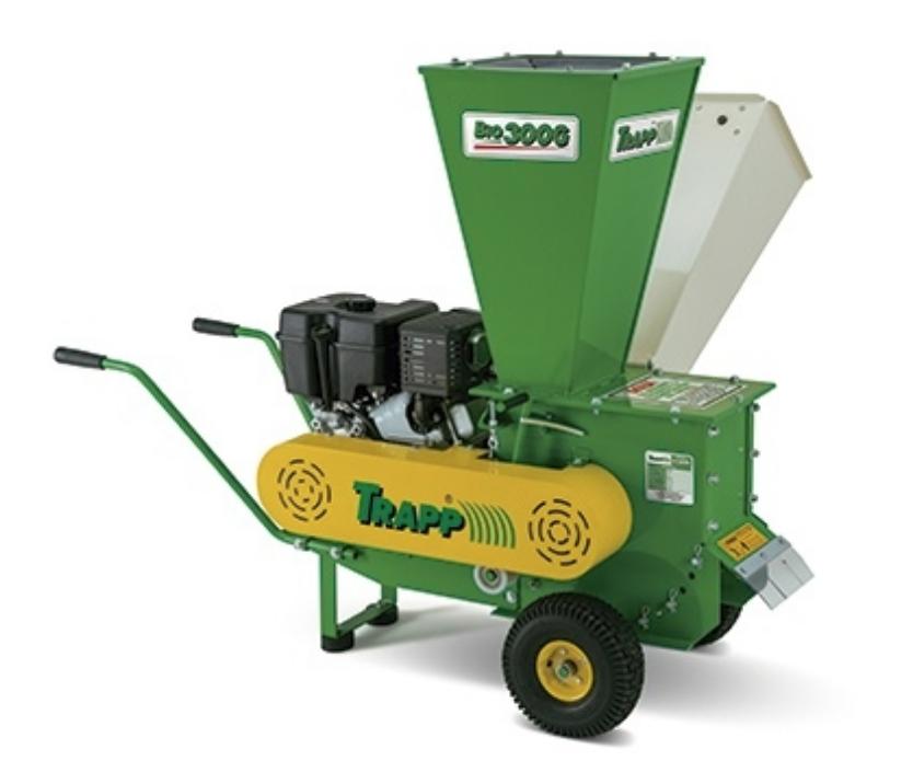 Triturador de Resíduos BIO-300 C/MOT.GAS.13,5HP