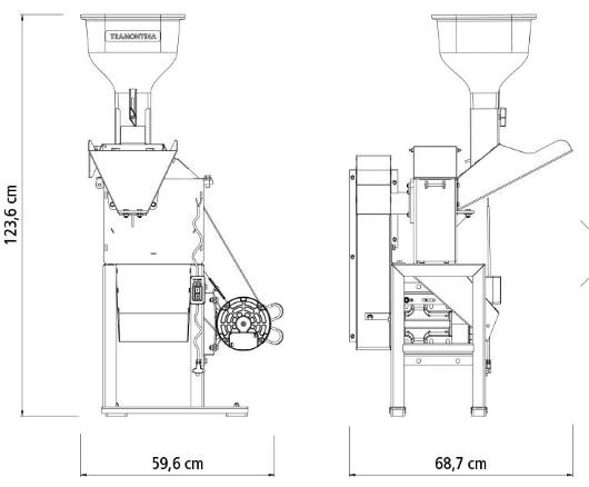 Triturador Tramontina TRE40 Motor 3 hp Bivolt / Saída Lateral 79860416 (Elétrico)