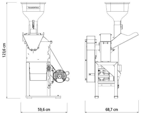 Triturador Tramontina TRE40 Motor 2 hp Bivolt / saida lateral 79860316 (Elétrico)