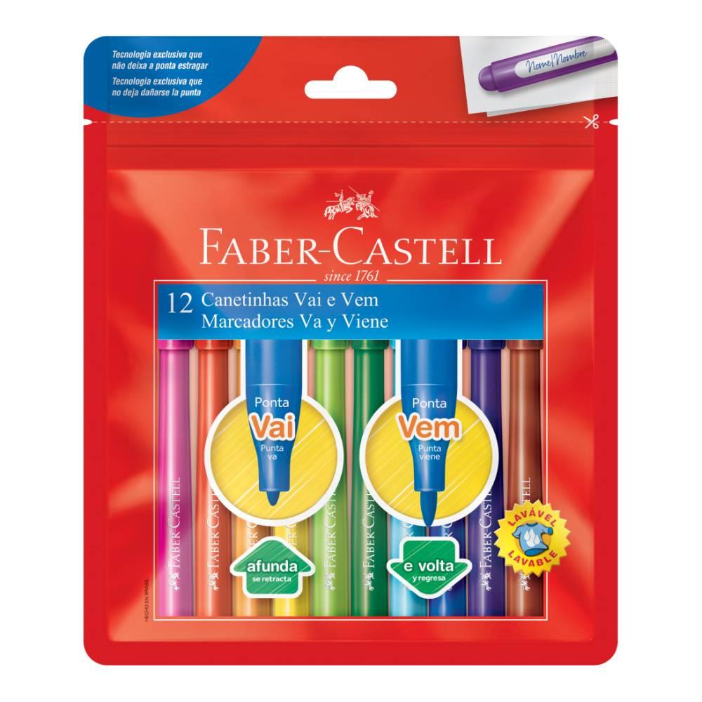 12 Canetinhas Vai e Vem Faber-Castell
