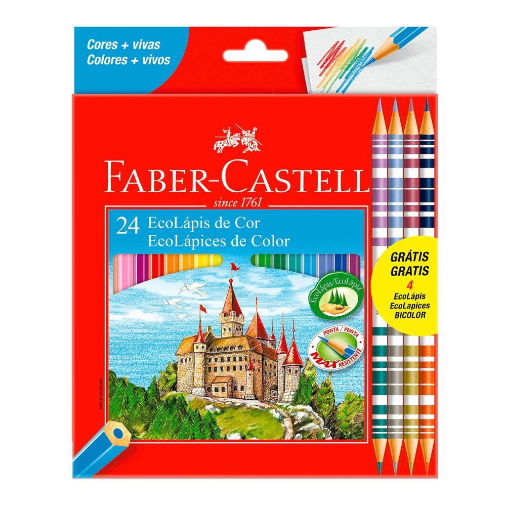 24 Ecolápis de Cor + 4 Ecolápis Bicolor Faber-Castell