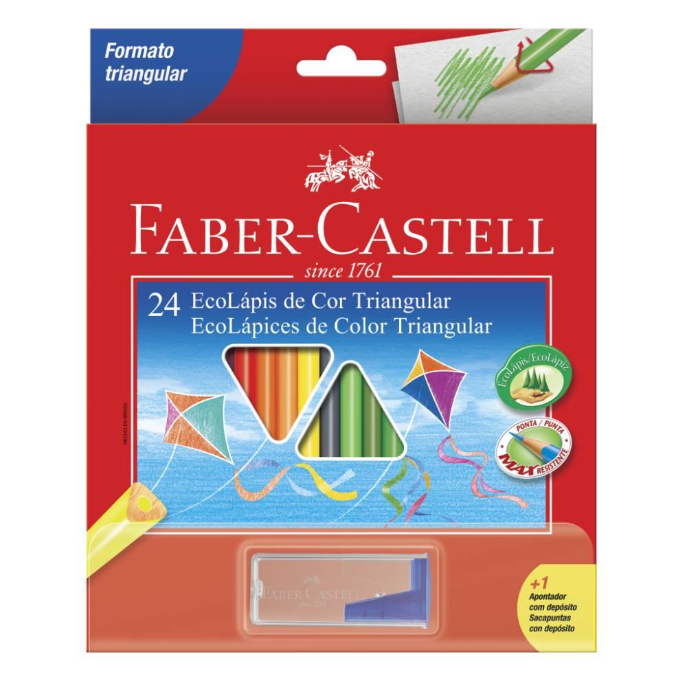 24 Ecolápis de Cor Triangular Faber-Castell