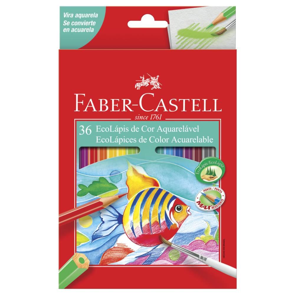 36 Ecolápis de Cor Aquarelável Faber-Castell