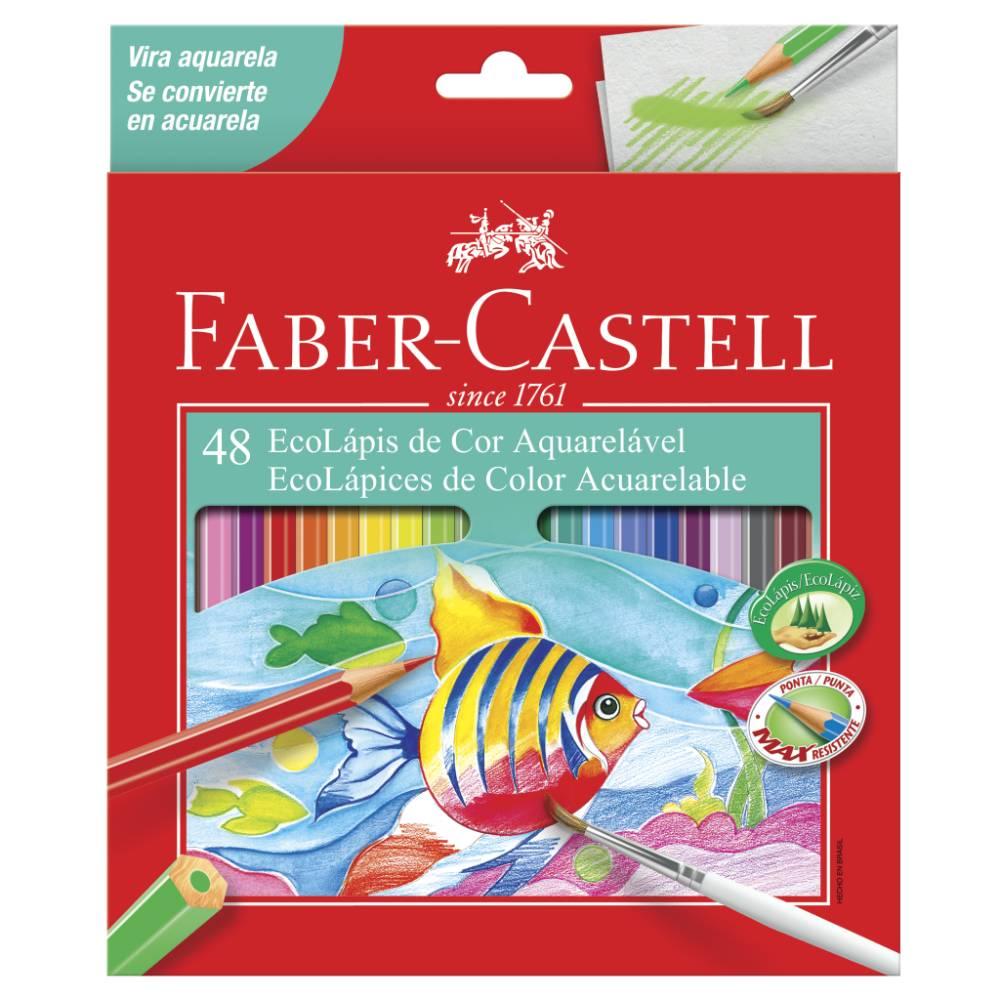 48 Ecolápis de Cor Aquarelável Faber-Castell