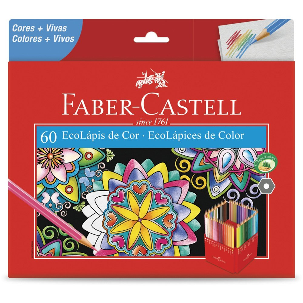 60 Ecolápis de Cor Faber-Castell