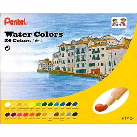 Aquarela A Base D+ Água  24 Cores Pentel