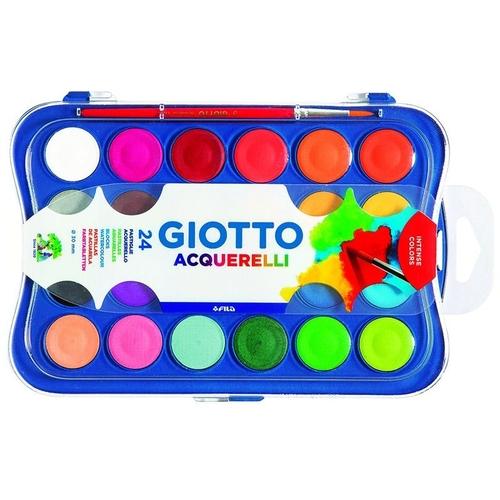 Aquarela pastilha 24 cores Giotto